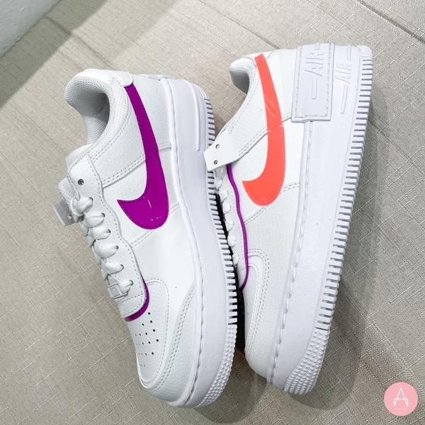 [DH3859-100] W NIKE AIR FORCE 1 SHADOW SUMMIT WHITE BRIGHT MANGO