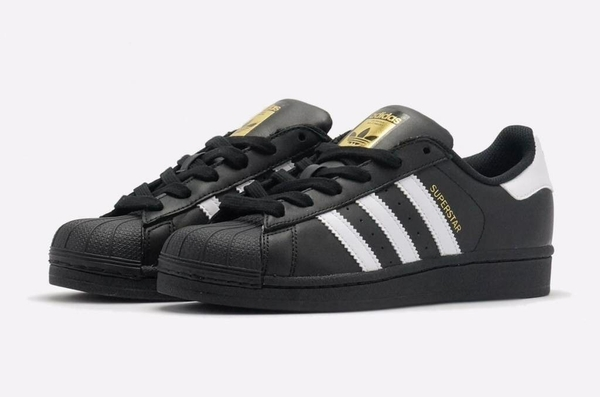 [B27140] M ADIDAS SUPERSTAR FOUNDATION BLACK