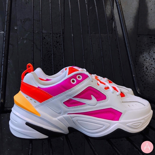 [AO3108-104] W NIKE M2K TEKNO WHITE PINK ORANGE