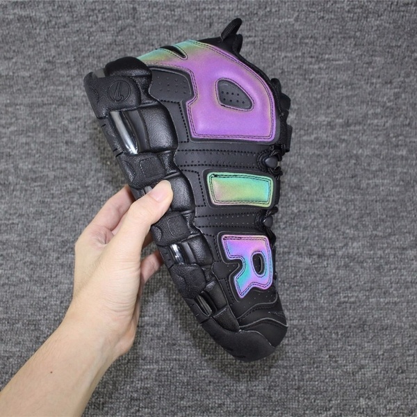 [922845-001] K NIKE AIR UPTEMPO REFLECTIVE ALL BLACK