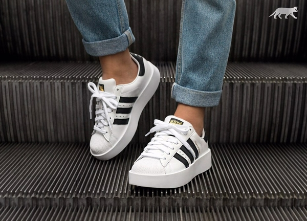 [BA7666] W ADIDAS SUPERSTAR GOLD BOLD