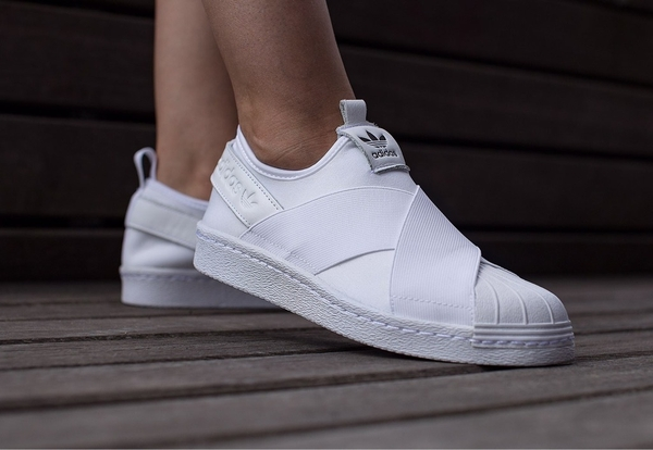 [BZ0111] W ADIDAS SUPERSTAR SLIP ON ALL WHITE