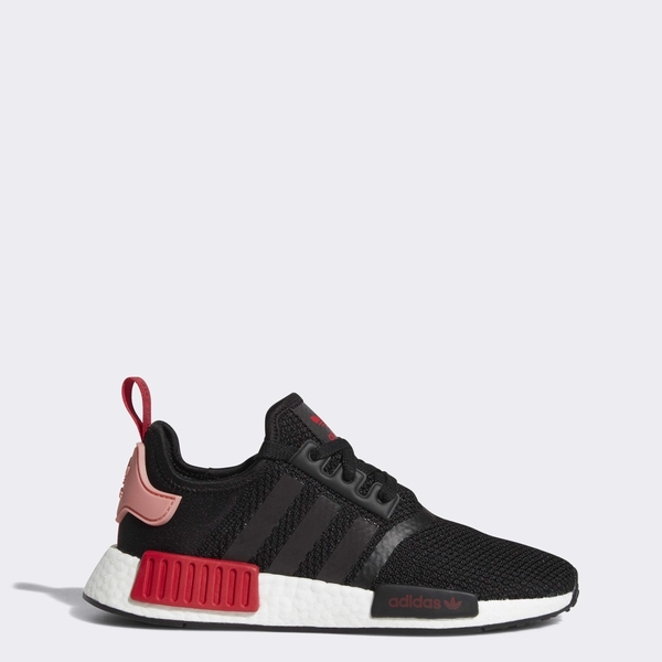 [D97088] W ADIDAS NMD R1 BLACK PINK/RED