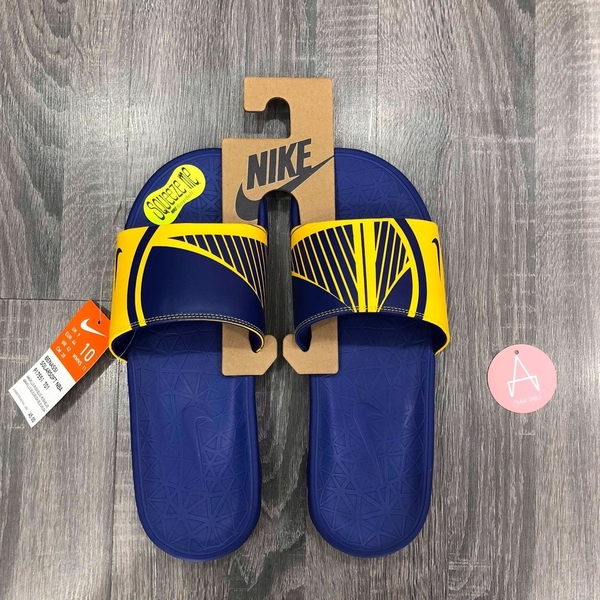 [917551-701] M NIKE BENASSI SOLARSOFT NBA BLUE YELLOW