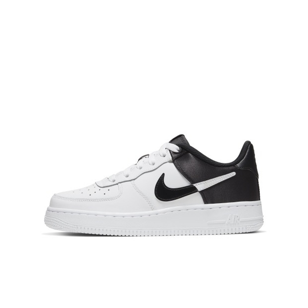 [BQ4420-100] M NIKE AIR FORCE1 NBA LOW WHITE BLACK SATIN