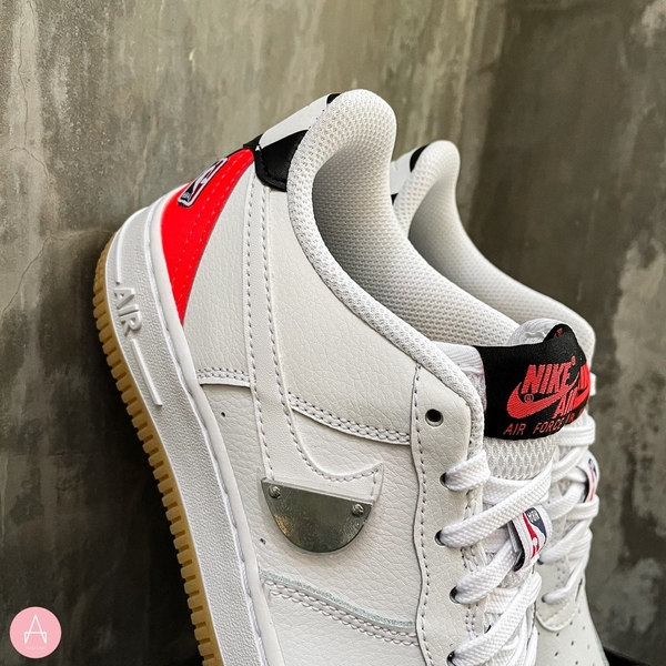 [CT3842-101] K NIKE AIR FORCE 1 NBA HO20 WHITE/BRIGHT CRIMSON