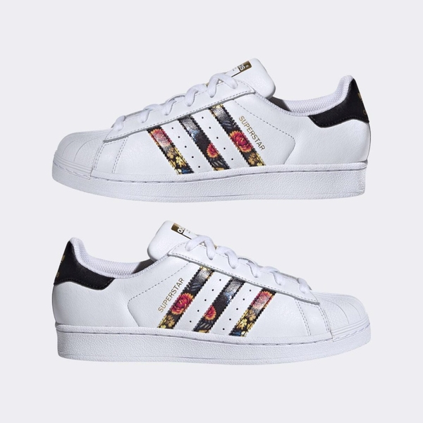 [EF1480] W ADIDAS SUPERSTAR EXCLUSIVE WHITE FLORAL