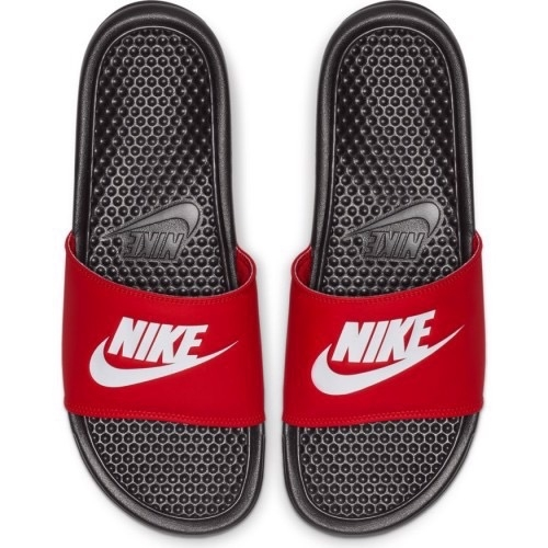 [343880-026] M NIKE BENASSI JDI BLACK RED WHITE