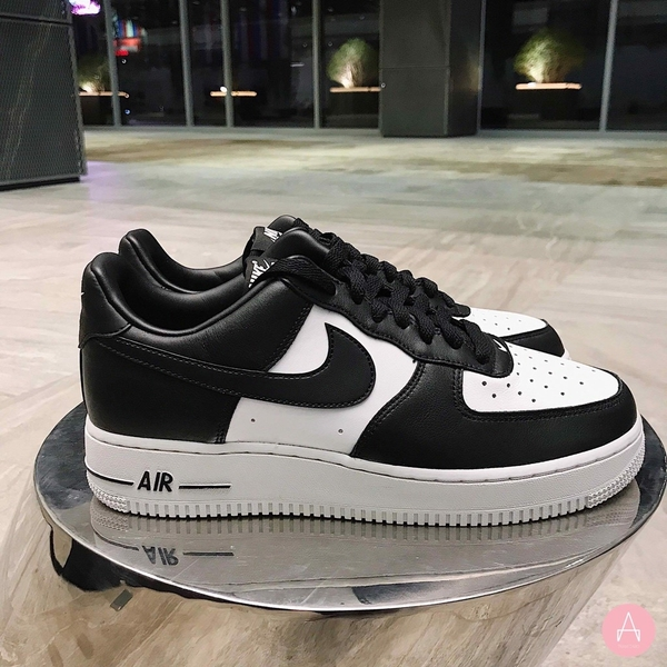 [AQ4134-100] M NIKE AIR FORCE 1 BLACK WHITE