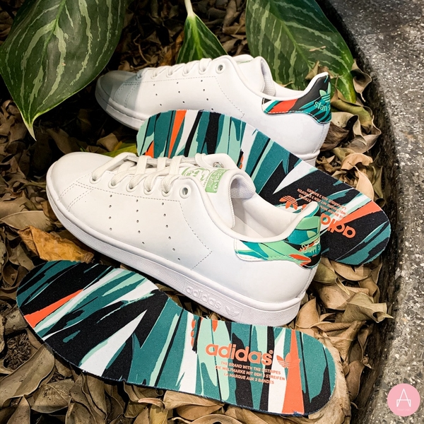 [FZ3815] M ADIDAS STAN SMITH TROPICAL PRINT CLOUD WHITE/CORE BLACK