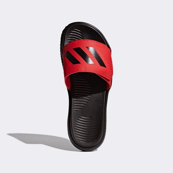 [CP9868] M ADIDAS ALPHABOUNCE BASKETBALL SLIDES RED BLACK