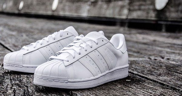 [B27136] M ADIDAS SUPERSTAR ALL WHITE