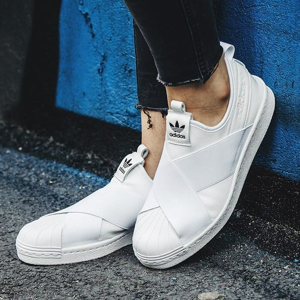 [BY2885] W ADIDAS SUPERSTAR SLIP ON ALL WHITE