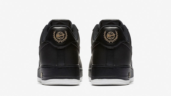 [AA4083-014] M NIKE AIR FORCE 1 BLACK LOGO CREST