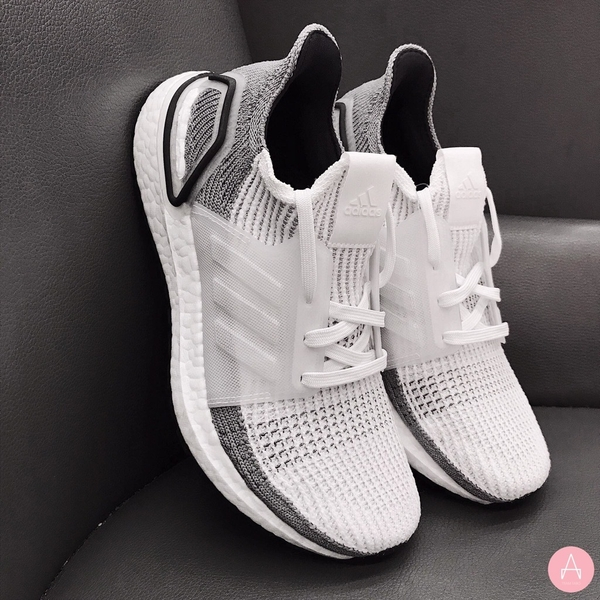 [B75880] W ADIDAS ULTRABOOST 19 GREY WHITE BLACK