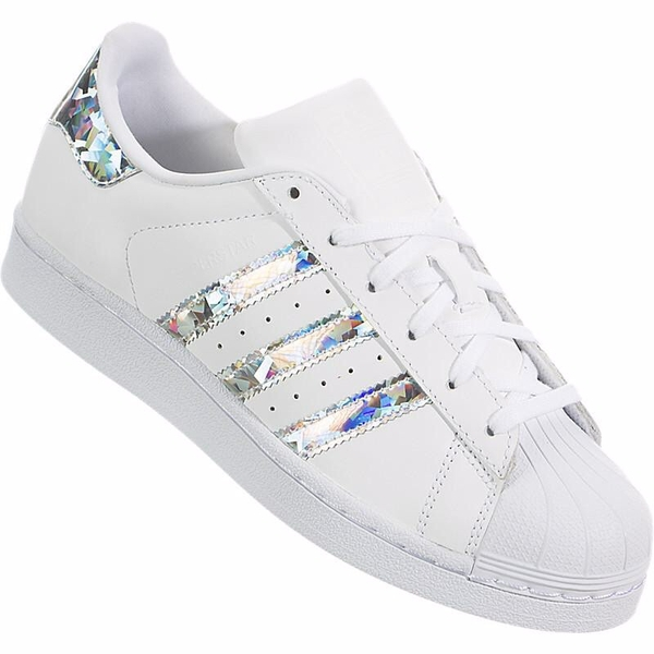 [F33889] K ADIDAS SUPERSTAR BLING BLING DIAMOND WHITE