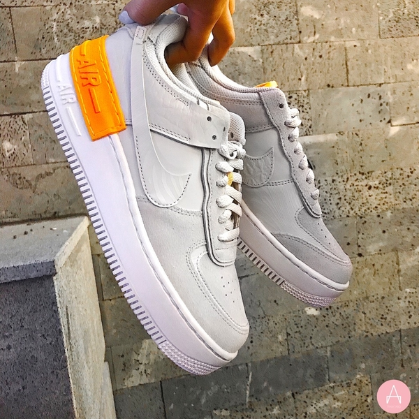 [CU3446-001] W NIKE AIR FORCE 1 SHADOW VAST GREY LASER ORANGE