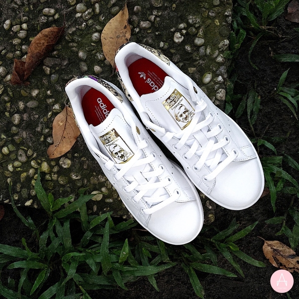 [FV3086] W ADIDAS STAN SMITH WHITE/GOLD SNAKESKIN