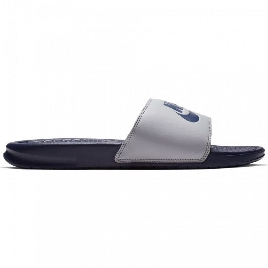 [343880-024] M NIKE BENASSI JDI GREY/MIDNIGHT NAVY