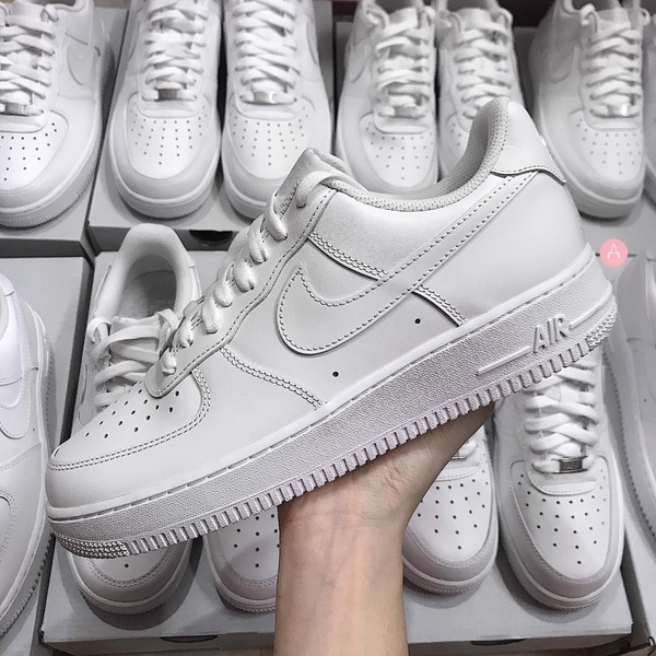 [315122-111] M NIKE AIR FORCE 1 LOW ALL WHITE