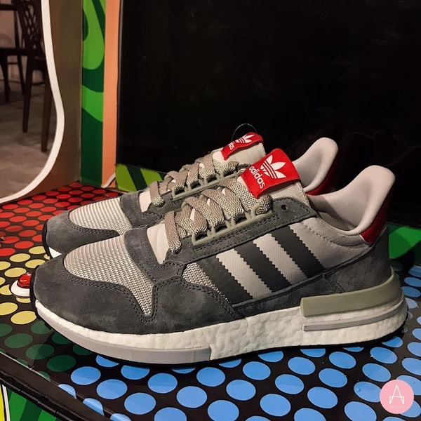 [B42204] M ADIDAS ZX 500 RM GREY WHITE RED
