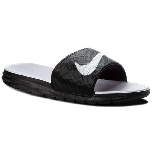 [705475-010] W NIKE BENASSI SOLARSOFT WHITE BLACK