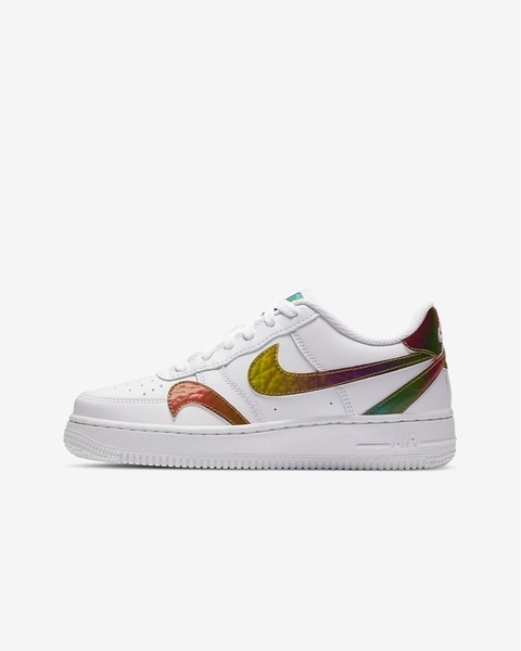 [CZ5890-100] K NIKE AIR FORCE 1 LV8 2 WHITE/MULTI-COLOR