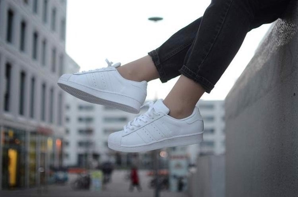 [B23641] K ADIDAS SUPERSTAR FOUNDATION ALL WHITE