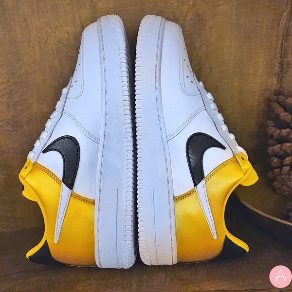 [BQ4420-700] M NIKE AIR FORCE 1 NBA GOLD SATIN