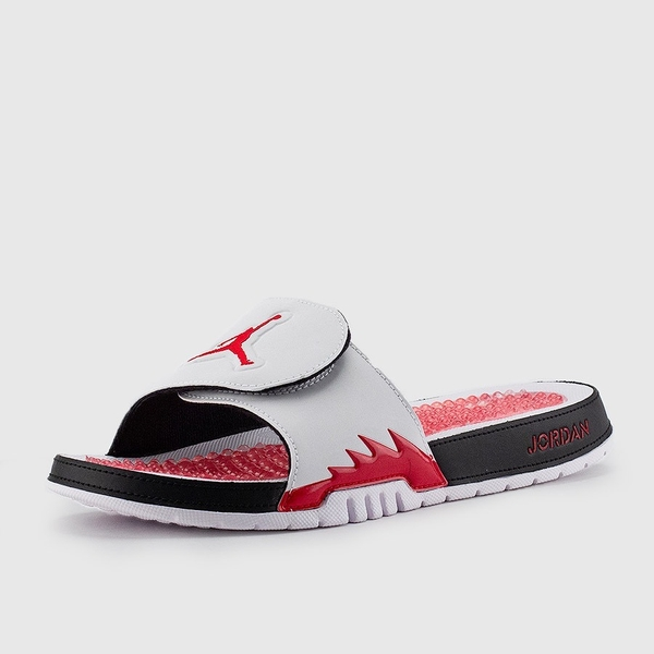 [555501-101] M AIR JORDAN HYDRO 5 RETRO WHITE/FIRE RED-BLACK