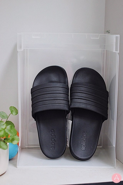 [BB1095] W ADIDAS ADILETTE CLOUDFOAM ALL BLACK