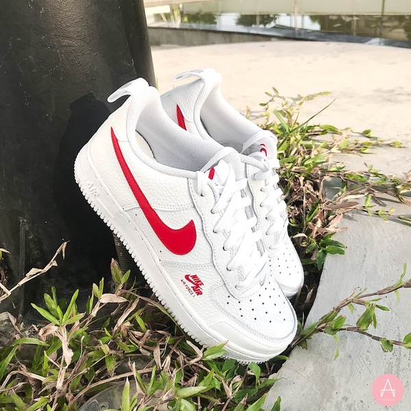 [CZ4203-100] K NIKE AIR FORCE 1 LOW SE WHITE GREY UNIVERSITY RED
