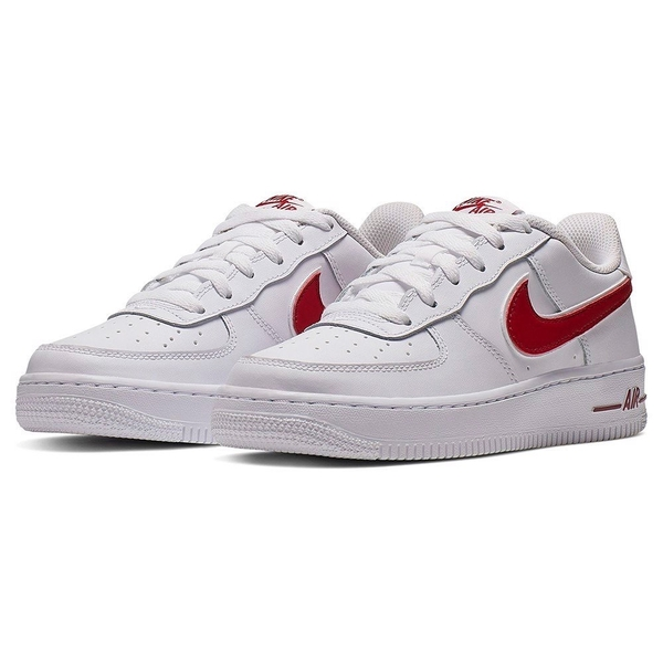 [AV6252-101] K NIKE AIR FORCE 1-3 WHITE RED