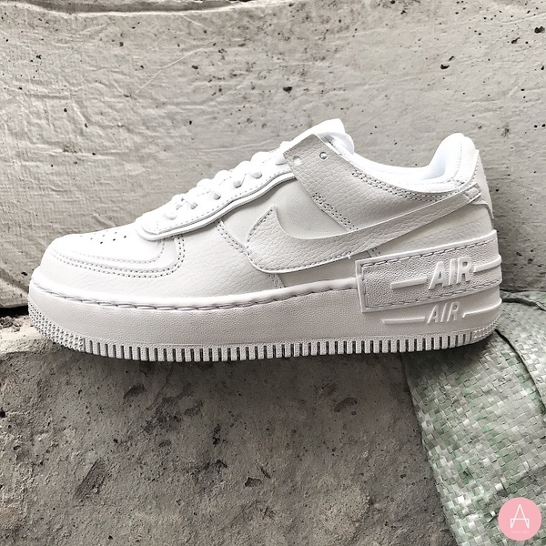 [CI0919-100] W NIKE AIR FORCE 1 SHADOW TRIPLE WHITE