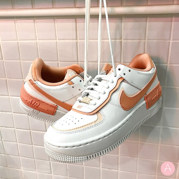 [CJ1641-101] W NIKE AIR FORCE 1 SHADOW WHITE CORAL PINK