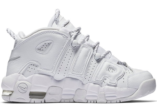 [415082-102] K NIKE AIR UPTEMPO ALL WHITE