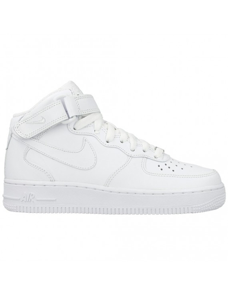 [366731-100] W NIKE AIR FORCE 1 MID ALL WHITE