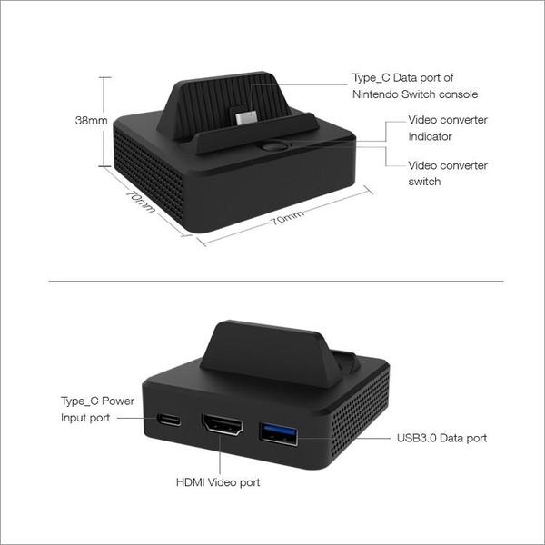 dock xuất hình nintendo switch mini chính hãng dobe tienxiu