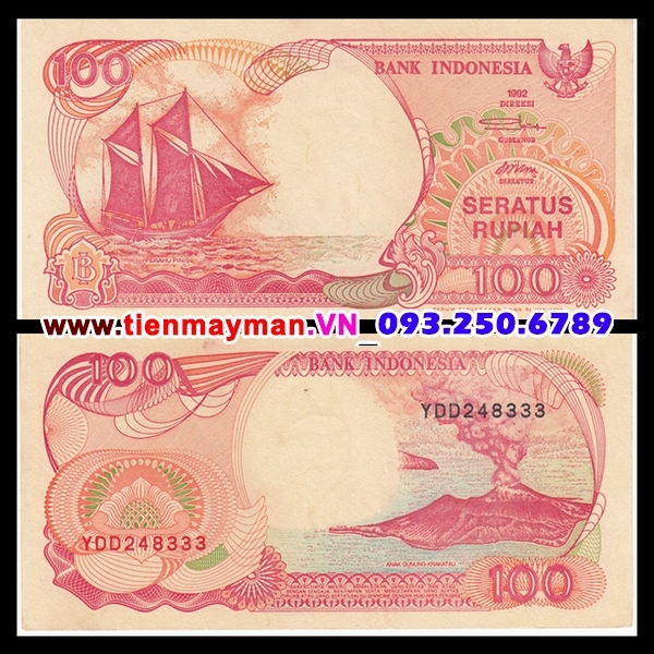 Tiền giấy Indonesia 100 Rupiah 1992 UNC