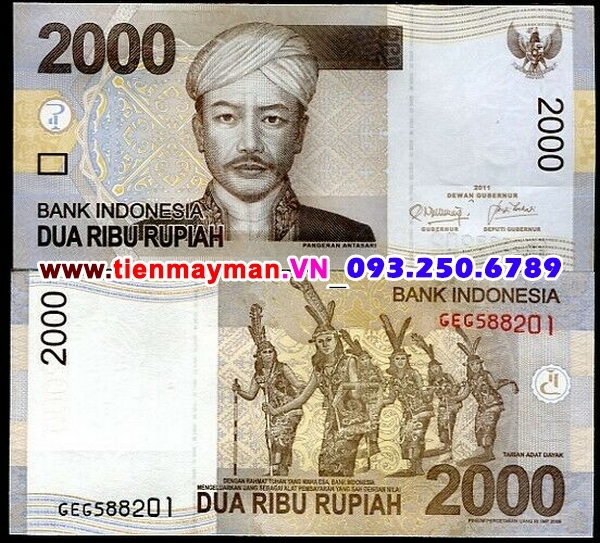 Tiền giấy Indonesia 2000 Rupiah 2009 UNC
