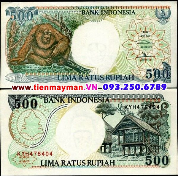 Tiền giấy Indonesia 500 Rupiah 1992 UNC
