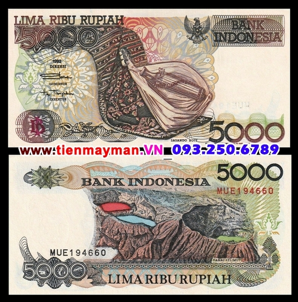 Tiền giấy Indonesia 5000 Rupiah 1992