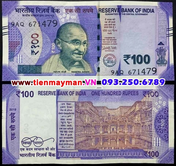 Tiền giấy India 100 Rupee 2018 UNC