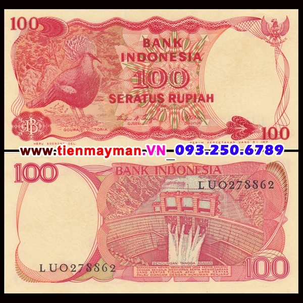 Tiền giấy Indonesia 100 Rupiah 1984 UNC