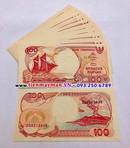 Tiền Thuận Buồm Xuôi Gió Indonesia 100 Rupiad
