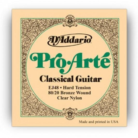 d-addario-ej48-80-20-bronze-pro-arte-nylon-classical-guitar-strings-hard-tension