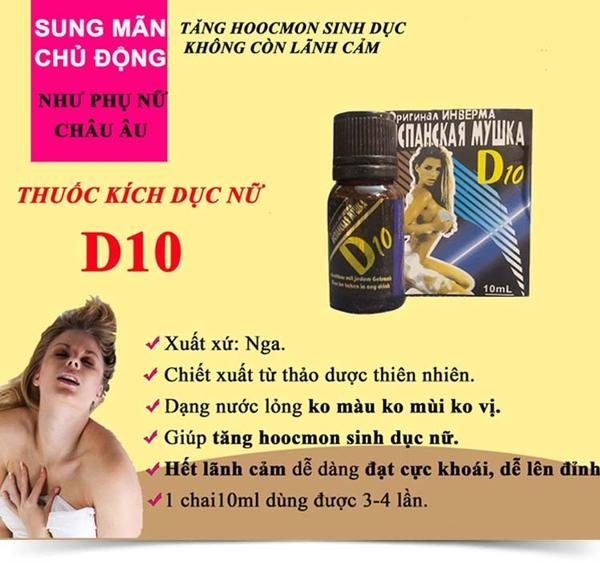 Thuốc kích dục Nữ D10 cực mạnh giá rẻ chất lượng cao