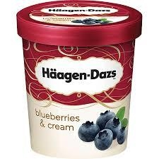 KEM HAAGEN DAZS BLUEBERRIES Icecream 392gr