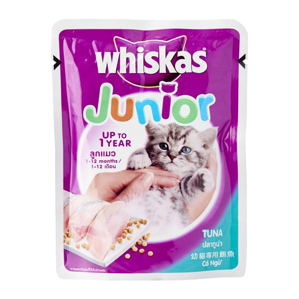 Thức ăn cho mèo Whiskas Junior Tuna Pouch Wet Food for Cat 85g