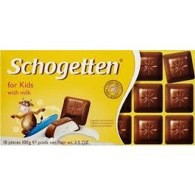 Socola cho trẻ em Schogetten Chocolate with milk for kids 100gr